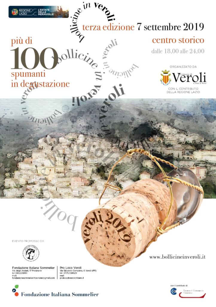 Locandina Bollicine In Veroli 2019